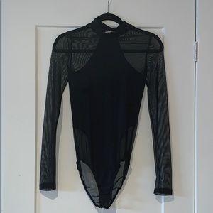 Black mesh bodysuit size Medium